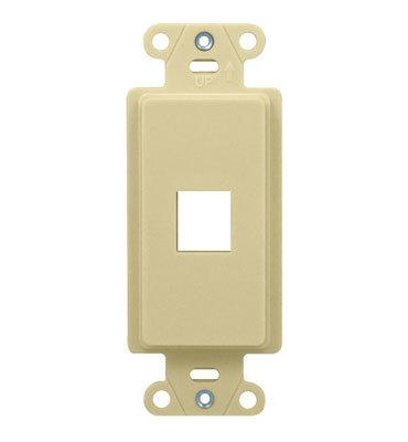 Pass & Seymour Inc WP3411-LA On-Q WP3411-LA 1-Gang Outlet Strap; Wall Box, (1) Keystone, High Impact Flame Retardant Plastic, Light Almond