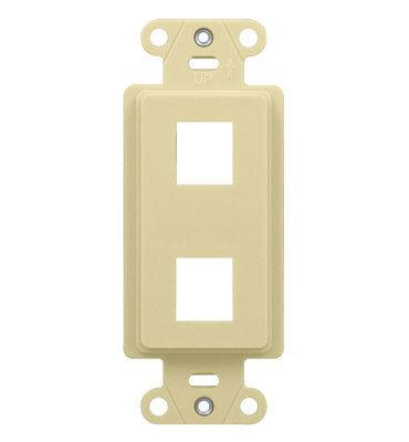 Pass & Seymour Inc WP3412-LA On-Q WP3412-LA 1-Gang Decorator Outlet Strap; Wall Box, (2) Receptacles, (2) Keystones, High Impact Flame Retardant Plastic, Light Almond