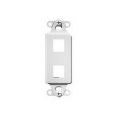 Pass & Seymour Inc WP3412-WH On-Q WP3412-WH 1-Gang Decorator Outlet Strap; Wall Box, (2) Receptacles, (2) Keystones, High Impact Flame Retardant Plastic, White