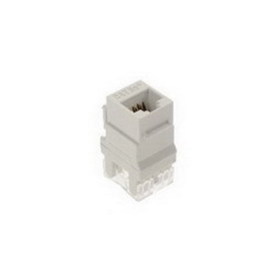 Pass & Seymour Inc WP3450-WH-50 On-Q WP3450-WH-50 Category 5e RJ45 Keystone Connector; Vertical Mount, 8P8C, White