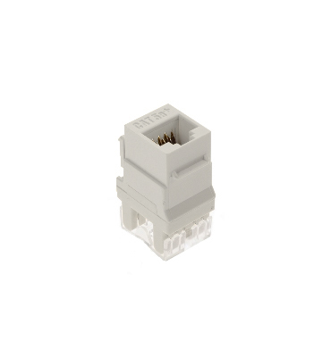 Pass & Seymour Inc WP3450-WH On-Q WP3450-WH Category 5e RJ45 Keystone Connector; Vertical Mount, 8P8C, White