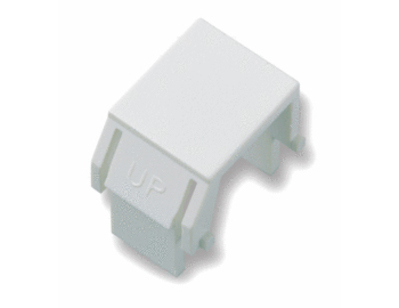 Pass & Seymour Inc WP3455-WH On-Q WP3455-WH Blank Keystone Insert; Snap-In/Wallplate/Strap Mount, Plastic, White