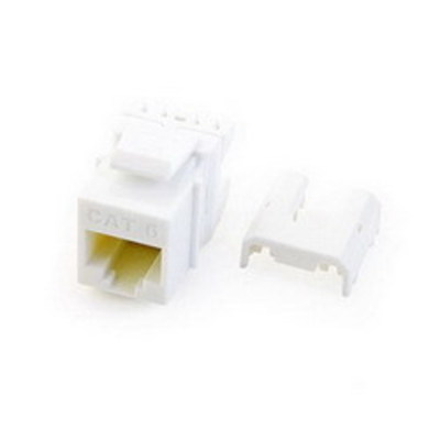 Pass & Seymour Inc WP3476-WH On-Q WP3476-WH Quick Connect Category 6A RJ45 Female Keystone Insert; Wallplate or Strap Mount, 8P8C, White