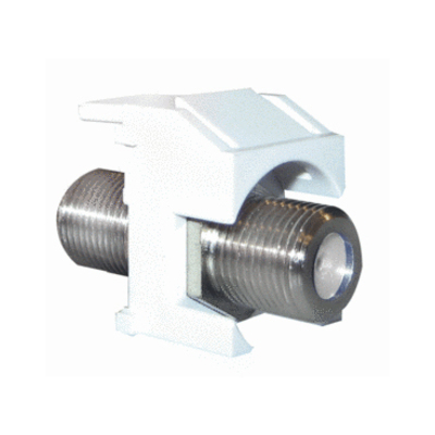 Pass & Seymour Inc WP3481-WH On-Q WP3481-WH Standard F-Type Connector Keystone Insert; M20 Screw/Wallplate or Strap Mount, White