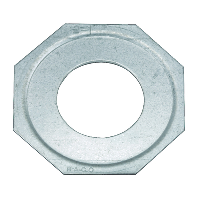 RACO 1379 Hubbell Electrical / RACO 1379 Reducing Washer; 2 Inch x 1-1/2 Inch Conduit, Steel, Electro-Plated Zinc