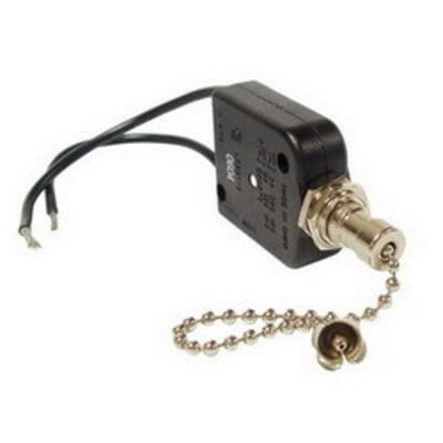 RACO 6405 Raco 6405 All Angle Pull Chain Switch; 1-Pole, SPST, 125/250 Volt AC, 6/3 Amp