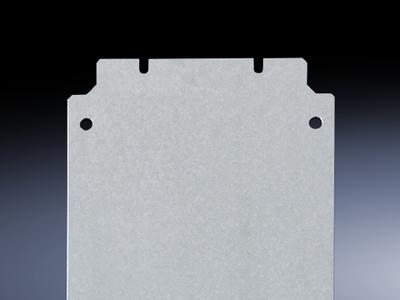 Rittal 1568700 Rittal 1568700 Mounting Plate; 2-mm 14 Gauge Sheet Steel, Zinc-Plated