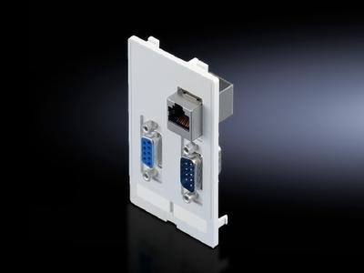 Rittal 2482550 Rittal 2482550 Modular Interface Flap; Fine Die-Cast Zinc, Matte Nickel Plated