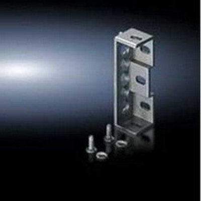 Rittal 4582500 Rittal 4582500 Flat Baying Bracket; Sheet Steel, Zinc-Plated, Passivated