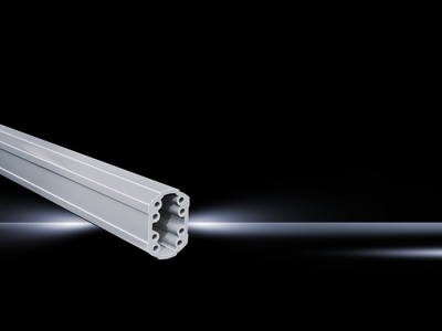 Rittal 6206200 Rittal 6206200 Support Arm System 60; Extruded Aluminum, RAL 7035, 2000 mm Length x 85 mm Width x 59 mm Height