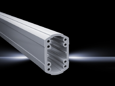 Rittal 6212100 Rittal 6212100 Solid Support Arm Section; 1000 mm Length x 75 mm Width x 120 mm Height, Extruded Aluminum, RAL 7035 Light Gray
