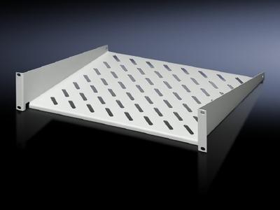 Rittal 7119250 Rittal 7119250 DK Component Shelf; 2U Fixed, 19 Inch Rail, 10 Inch Depth, Carbon Steel, RAL 7035 Light Gray