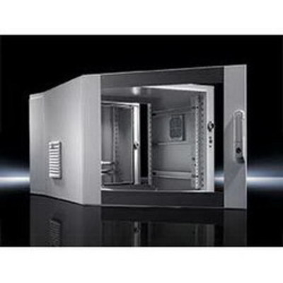 Rittal 7715535 Rittal 7715535 Pre-Configured 3-Part Enclosure; NEMA 12, Wall, 29.4 Inch x 23.6 Inch x 26.5 Inch, 16 Gauge Carbon Steel Wall and Hinged Part, Powder-Coated