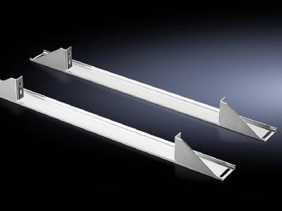 Rittal 7827480 Rittal 7827480 L-Shaped Rail Installation Bracket; 19 Inch Width, Carbon Steel, Zinc Plated