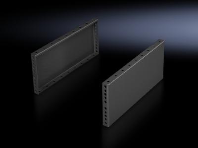 Rittal 8602065 Rittal 8602065 Base/Plinth Trim Side Panel; Sheet Steel, RAL 7035 Light Gray