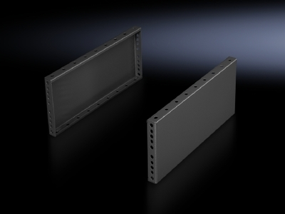 Rittal 8602085 Rittal 8602085 Base/Plinth Trim Side Panel; Sheet Steel, RAL 7035 Light Gray