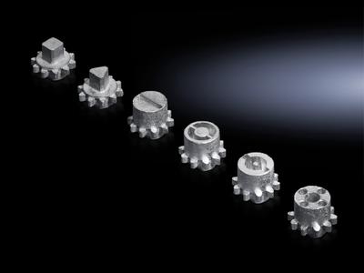 Rittal 8611160 Rittal 8611160 TS Lock Insert Double Bit; Die-Cast Zinc