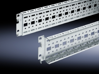 Rittal 8612080 Rittal 8612080 TS System Chassis With Mounting Flange; 73 mm x 17 mm x 800 mm, Sheet Steel, Zinc-Plated, Passivated
