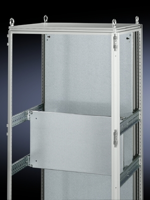 Rittal 8614660 Rittal 8614660 Partial Mounting Panel; 500 mm x 500 mm, 12 Gauge Sheet Steel, Zinc-Plated, Passivated