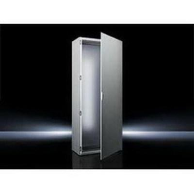Rittal 8684500 Rittal 8684500 Single Door Freestanding Enclosure; 23.600 Inch Width x 15.700 Inch Depth x 70.900 Inch Height, 16 Gauge Sheet Steel, RAL 7035 Light Gray