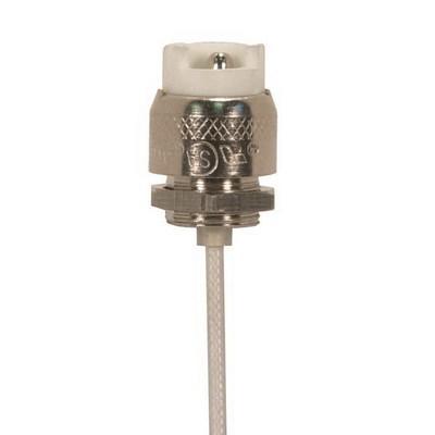 Satco 90/1561 Satco 90/1561 Halogen Lamp Socket; 250 Volt, 1000 Watt, Set Screw, 6 Inch SF-1 200 deg Leads
