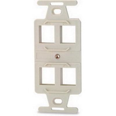 Signamax 106A-4-DI Signamax 106A-4-DI 1-Gang Faceplate; Flush, (4) Port, (4) Keystones, Fire Retardant Thermoplastic, Ivory