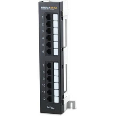 Signamax 12458M-C5E Signamax 12458M-C5E 110-Punchdown Category 5e RJ45 Mini Patch Panel; 12-Port