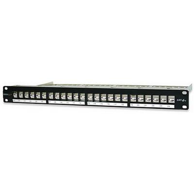 Signamax 24458S-C6C Signamax 24458S-C6C Category 6+ Shielded UTP Component Level Patch Panel; 24-Port, Silver