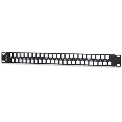 Signamax 48U-HDMMP-1R Signamax 48U-HDMMP-1R Field-Configurable Category 6A/6/5e Unloaded Multimedia Patch panel; Rack Mount, 48-Port, Black