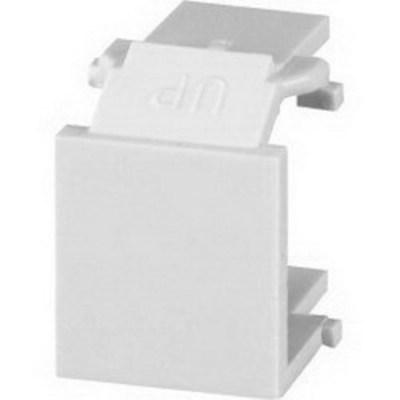 Signamax CMK-BL-BK Signamax CMK-BL-BK Blank Keystone Module; Thermoplastic, Black, 10/Pack