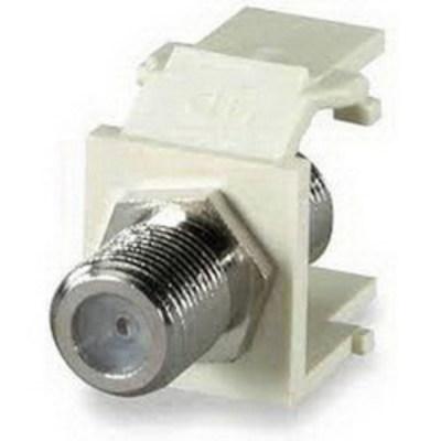 Signamax CMK-F-WH Signamax CMK-F-WH F-Type Keystone Coaxial Connector Module; 1 Giga-Hz, White