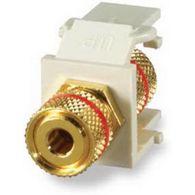 Signamax CMK-RA Signamax CMK-RA 3-Way Binding Post Connector Module; Light Ivory With Red Stripe