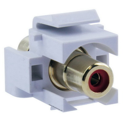Signamax CMK-RCAR-WH Signamax CMK-RCAR-WH RCA Feedthrough Connector Module; White/Red
