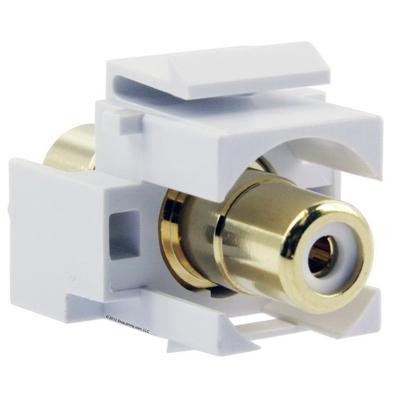 Signamax CMK-RCAW-WH Signamax CMK-RCAW-WH RCA Feedthrough Connector Module; White