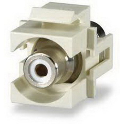 Signamax CMK-RCAW Signamax CMK-RCAW RCA Feedthrough Connector Module; Light Ivory/White
