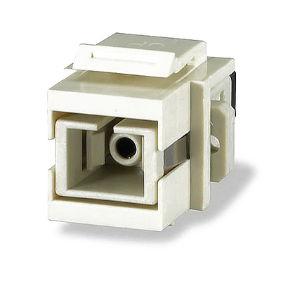 Signamax CMK-SC-WH Signamax CMK-SC-WH Keystone Optical Fiber Connector Module; SC, White