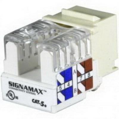 Signamax KJ458-C5E Signamax KJ458-C5E Category 5e Keystone Jack; Flush Mount, 8P8C, Ivory