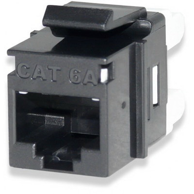 Signamax KJ458MT-C6AC-BK Signamax KJ458MT-C6AC-BK MT-Series High-Density Category 6 RJ45 Keystone Jack; Flush Mount, 8P8C, Black