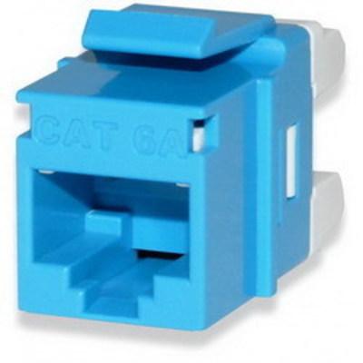 Signamax KJ458MT-C6C-BU Signamax KJ458MT-C6C-BU MT-Series High-Density Category 6 RJ45 Keystone Jack; Flush Mount, 8P8C, Blue