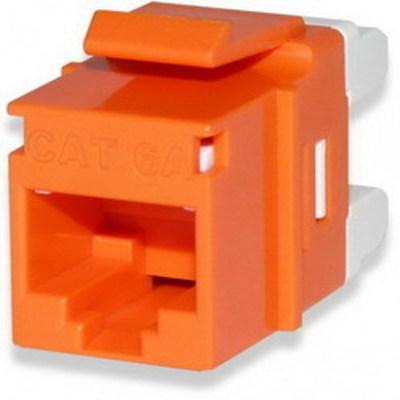 Signamax KJ458MT-C6C-OR Signamax KJ458MT-C6C-OR MT-Series High-Density Category 6 RJ45 Keystone Jack; Flush Mount, 8P8C, Orange