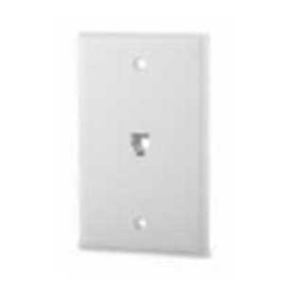 Signamax SCF-1P64S Signamax SCF-1P46S 1-Gang Faceplate; Flush/Screw, (1) 6P4C RJ11 Jack, Stainless Steel, Light Ivory