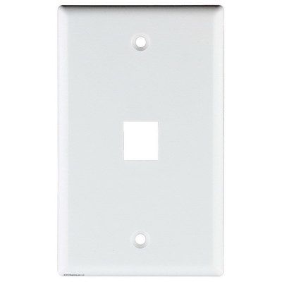 Signamax SKF-1-WH Signamax SKF-1-WH 1-Gang Faceplate; Screw Terminal, (1) Port Keystone, High Impact Thermoplastic, White