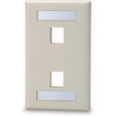 Signamax SKFL-2-DI Signamax SKFL-2-DI 1-Gang Faceplate; Screw, (1) Port, High Impact Thermoplastic, Dark Ivory