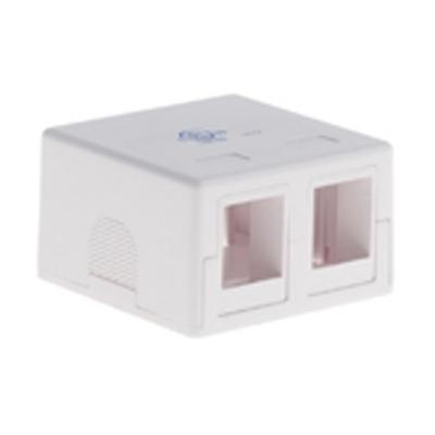 Signamax SMKL-2-WH Signamax SMKL-2-WH Multimedia Box; Surface, (2) Port, Keystone, Fire Retardant Thermoplastic, White