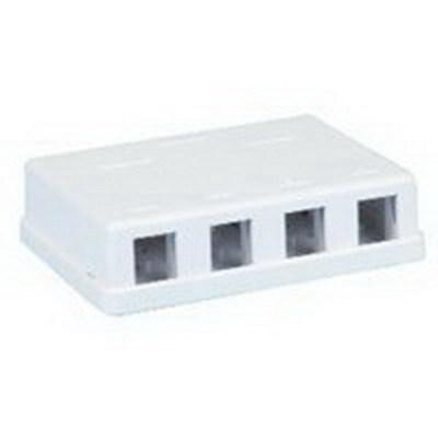 Signamax SMKL-4-WH Signamax SMKL-4-WH Surface Mount Box; Surface Mount, Thermoplastic, White, (4) Port
