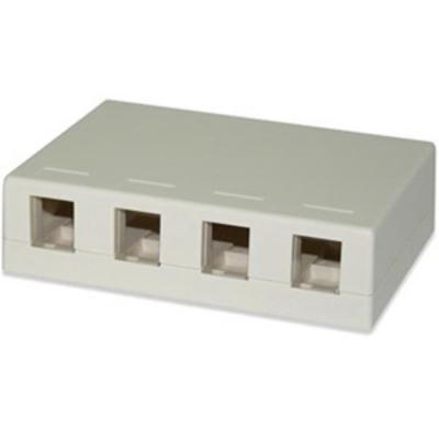 Signamax SMKL-4 Signamax SMKL-4 Multimedia Box; Surface, (4) Port, Fire Retardant Thermoplastic, Light Ivory
