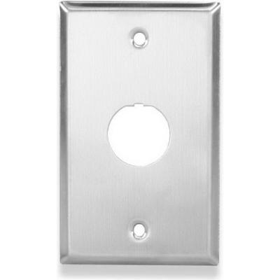 Signamax SSKFIG-1 Signamax SSKFIG 1-Gang Faceplate; Screw, (1) Port, Stainless Steel, Silver