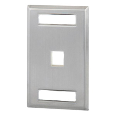 Signamax SSKFL-1 Signamax SSKFL-1 1-Gang Faceplate with Labeling Window; 1-Port, Screw Mount, 304 Stainless Steel Brushed