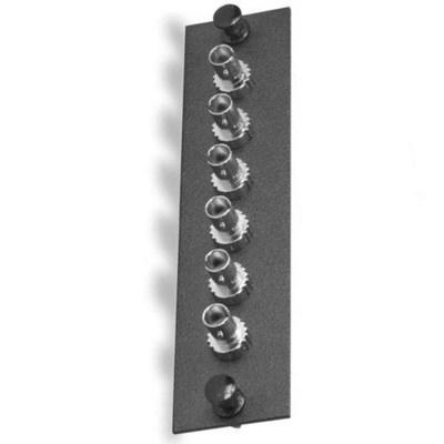 Signamax UFE-B-06ST-C Signamax UFE-B-06ST-C ST Optical Fiber Adapter Plate; Singlemode, 50 - 62.5 um, 6 Simplex Fibers, Black