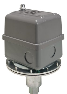 Square D by Schneider Electric 9016GVG1J11 Square D 9016GVG1J11 Adjustable Scale Vacuum Switch, 1/4 inch-18 NPTF Pipe Tap, 5 - 25 InHg, 2NO 2NC